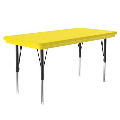 Correll AR2448-REC 28 Activity Table w/ Plastic Top, 48W x 24D, Yellow on Sale