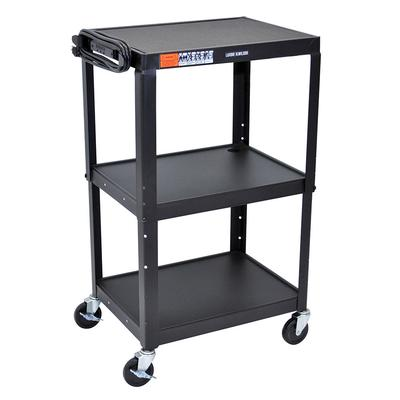 Luxor AVJ42 3 Level Media Cart w/ 15 ft Cord on Sale