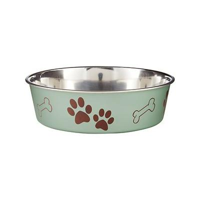 Loving Pets Bella Bowls Pet Bowl, Metallic Artichoke, Large