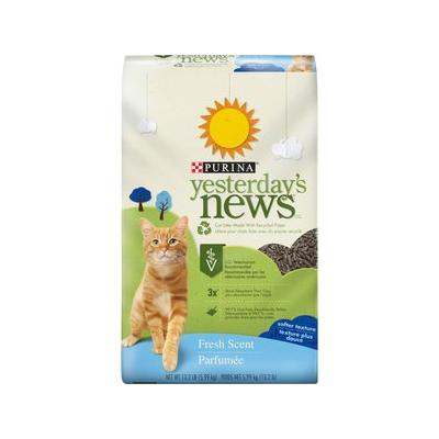 Yesterday's News Softer Texture Fresh Scent Cat Litter, 13.2-lb bag