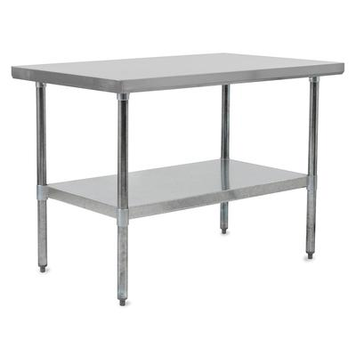 John Boos FBLG9630 96 18 ga Work Table w/ Undershelf & 430 Series Stainless Flat Top on Sale