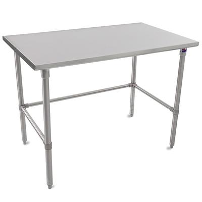 John Boos ST6-24108SBK 108 16 ga Work Table w/ Open Base & 300 Series Stainless Flat Top on Sale