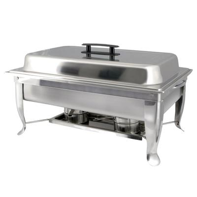 Winco C-1080 Eco-Chafer w/ Polished Cover & Folding Frame on Sale