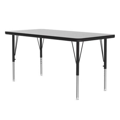 Correll AM2448-REC 15 Rectangular Activity Table w/ Melamine Top, 28x48, Gray Granite on Sale