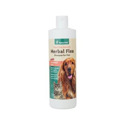 NaturVet Herbal Flea Dog & Cat Shampoo, 16-oz bottle