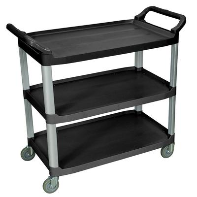Luxor SC13-B 3 Level Polymer Utility Cart w/ 300 lb Capacity, Raised Ledges on Sale