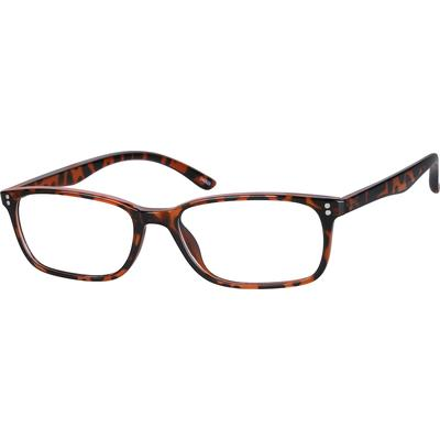 Zenni Geek Chic Rectangle Prescription Glasses Tortoiseshell Frame Plastic 246525