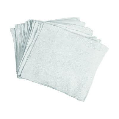 Chef Revival HTI275W White Ribbed Cotton Bar Towel, 16 x 27 on Sale