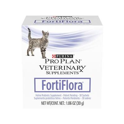 Purina Pro Plan Veterinary Diets FortiFlora Probiotic Gastrointestinal Support Cat Supplement, 30 packets