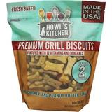 Howl's Kitchen Premium Grill Biscuits Beef, Chicken & Peanut Butter Flavor Dog Treats, 42-oz bag