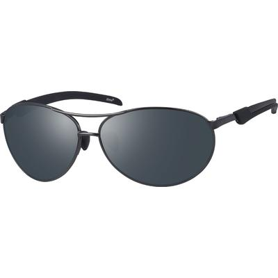Zenni Men's Sunglasses Gray Meta...