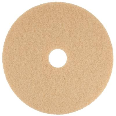 "Scrubble by ACS 34-19 19"" Tan Buffing Floor Pad - Type 34 - 5/Case"