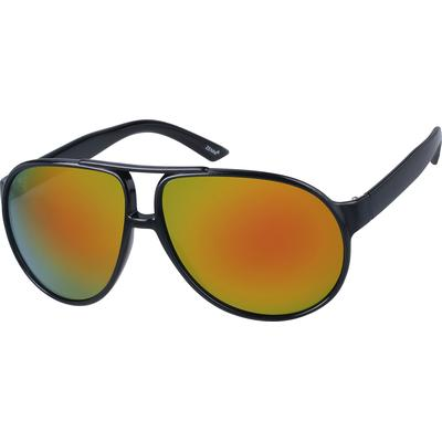 Zenni Mens Sunglasses Black Frame Other Plastic A10185521