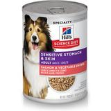 Hill's Science Diet Adult Sensitive Stomach & Skin Grain-Free Salmon & Vegetable Entree Canned Dog Food, 12.8-oz, case of 12
