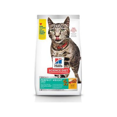 Hill's Science Diet Adult Perfect Weight Chicken Recipe Dry Cat Food, 3-lb bag