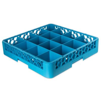 Carlisle RC1614 Full-Size Dishwasher Cup Rack w/ (16) Compartments, Polypropylene, Blue on Sale