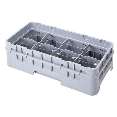 Cambro 8HC414151 Camrack Cup Rack with Extender - Half Size, 8 Compartments, Soft Gray on Sale
