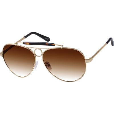 Zenni Men's Sunglasses Gold Meta...