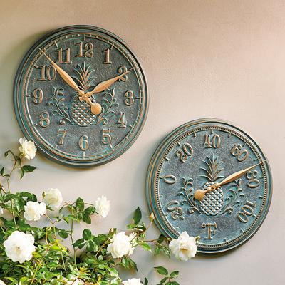 Classic Pineapple Thermometer - Verdigris - Frontgate