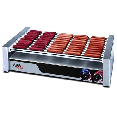 "APW Wyott XPERT Series 36"" W Flat HotRod Roller Grills With Bun Drawer (HRS-50S) - Stainless Steel"
