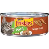 Friskies Classic Pate Mixed Grill Canned Cat Food, 5.5-oz, case of 24