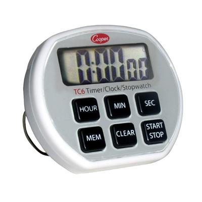 Cooper TC6-0-8 Digital Timer / Clock / Stopwatch, 24 Hr, 1 sec Increments, Memory on Sale