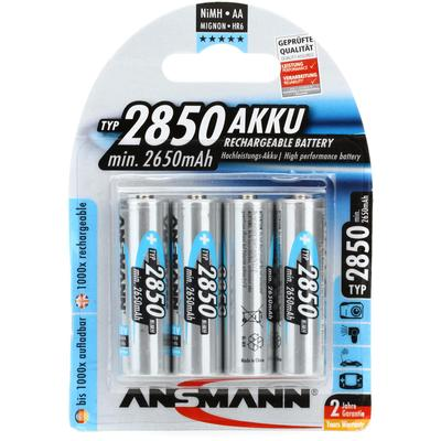 Ansmann AA 2850mah Rechargeable Battery (4-pack)