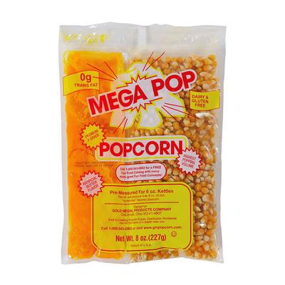 Gold Medal 2838 Mega Pop Corn Oil Salt Kits for 8 oz Kettles on Sale