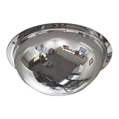 """ZORO SELECT ONV-360-8 8"""" Dia. Indoor Full Dome Mirror, 360° Viewing Angle"""