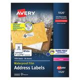 AVERY 5520 Avery® WeatherProof™ Mailing Labels with TrueBlock® Technology for