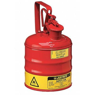JUSTRITE 10301 1 gal. Red Steel Type I Safety Can for Flammables