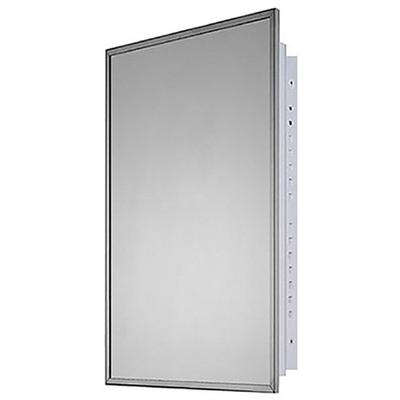 "KETCHAM 1626 16"" x 26"" Residential Recessed Mounted SS Framed Medicine Cabinet"