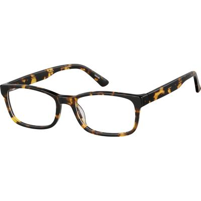 Zenni Classic Rectangle Prescription Glasses Tortoiseshell Frame Plastic 103125