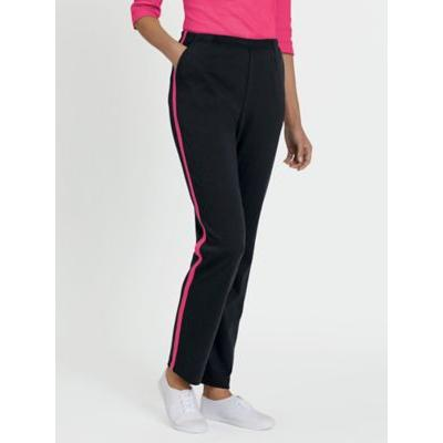 Plus Womens Petite Fresh Sport Pants, Black/Hot Pink XL