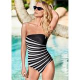 Slenderizing One-Piece One-Piece Swimsuits & Monokinis - White/black