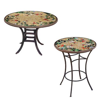 KNF Caramel Hummingbird Round Bistro Table - Pewter, 60 Round - Frontgate