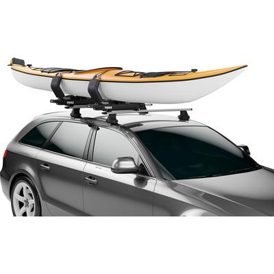Hullavator Pro adjustable front and rear saddles cradle and protect kayak,gas-assist struts take up to 40 lbs. of weight off the lifting load,includes two carrier assemblies and all necessary straps and tie downs for one kayak