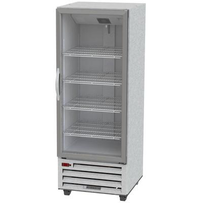 SB: Beverage-Air RI18-G-LED 27  One Section Glass Door Reach-In Refrigerator - 18 cu. ft. - True Industry Standard This Beverage-Air RI18HC-G 27  one section glass door reach-in refrigerator offers 18 cu. ft. of storage capacity so you can expand your storage area or store overflow product without taking up too much valuable space in your kitchen! With a single...