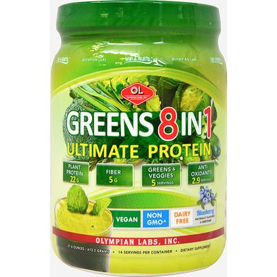 Olympian Labs Ultimate Greens 8 in 1 with Protein Powder-18.1 oz Powder