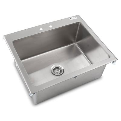 """John Boos PB-DISINK282012 (1) Compartment Drop-in Sink - 28"""" x 20"""", Drain Included"""