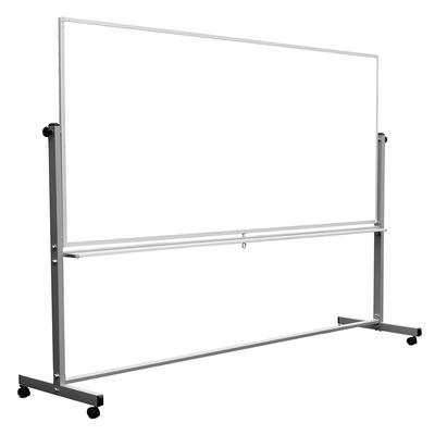 Luxor MB9640WW Reversible Magnetic Whiteboard w/ Aluminum Frame, 96 x 40 on Sale