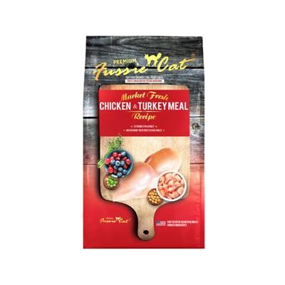 Fussie Cat Market Fresh Chicken & Turkey Recipe Grain-Free Dry Cat Food, 4-lb bag