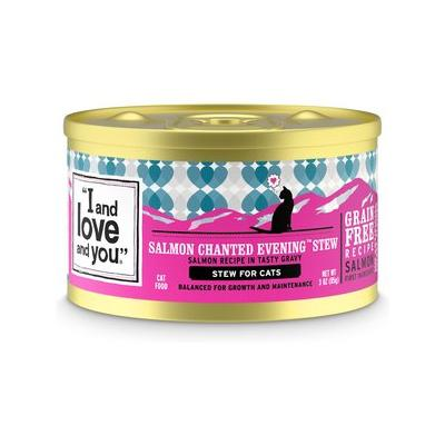 I and Love and You Salmon Chanted Evening Stew Grain-Free Canned Cat Food, 3-oz, case of 24