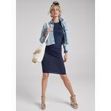 Basic High Neck Dress - Blue