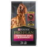 Purina Pro Plan Focus Adult Sensitive Skin & Stomach Lamb & Oatmeal Formula Dry Dog Food, 24-lb bag