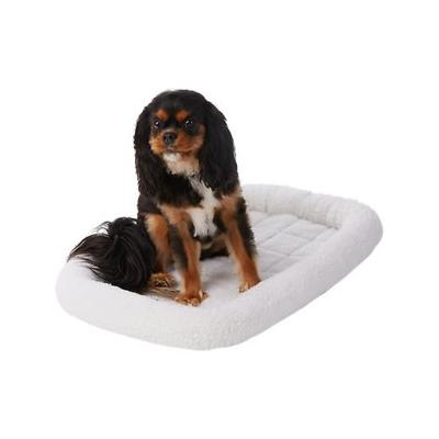 Frisco Quilted Dog Crate Mat, Ivory, 30-in; The Frisco Crate Mat Pet Bed makes your pet's crate, carrier, kennel, favorite spot or home away from home even cozier. The quilted bed is made with ultra-soft material with a foam pad on the bottom for extra...
