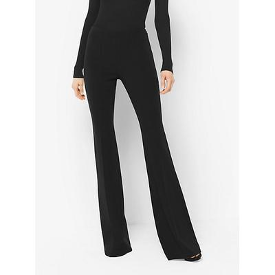 Michael Kors Collection Flared Stretch-Wool Trousers Black 0
