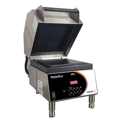 Nemco 6900-208-GF Commercial Panini Press w/ Aluminum Grooved Top/Smooth Bottom Plates, 208v/1ph on Sale