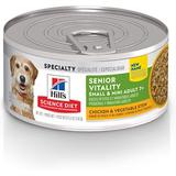 Hill's Science Diet Adult 7+ Small & Mini Youthful Vitality Chicken & Vegetable Stew Canned Dog Food, 5.5-oz, case of 24