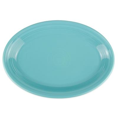 Homer Laughlin 458107 13.63 Oval Fiesta Platter - China, Turquoise on Sale